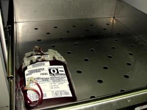 Restam apenas duas bolsas do tipo sanguíneo )- em Botucatu, SP. (Foto: Divulgação/Hospital das Clínicas Botucatu)