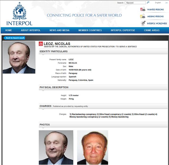 Nicolas Leoz procurado Interpol (Foto: Reprodução)