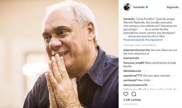 Leonardo lamenta morte de Marcelo Rezende (Foto: Reprodução/Instagram)
