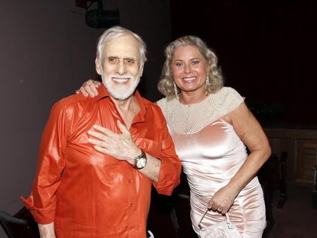 Francisco Cuoco e Vera Fischer em estreia de peça na Zona Sul do Rio (Foto: Marcos Ferreira/ Brazil News)