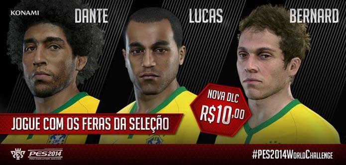 Dante, Lucas e Bernard foram alguns dos atletas a receberem novas faces (Foto: Divulgação)