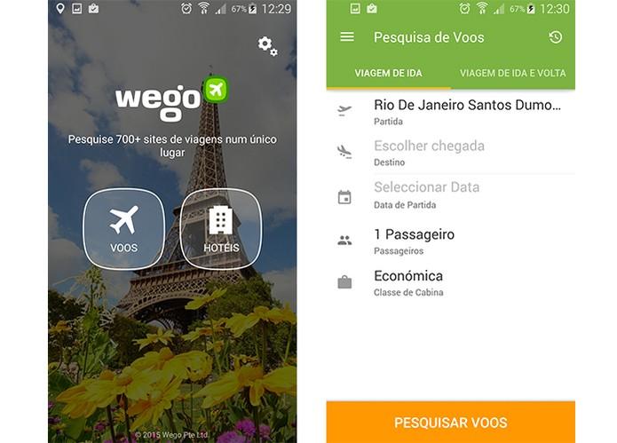 Wego permite procurar por voos e hoteis de forma gratuita (Foto: Reprodução/Barbara Mannara)