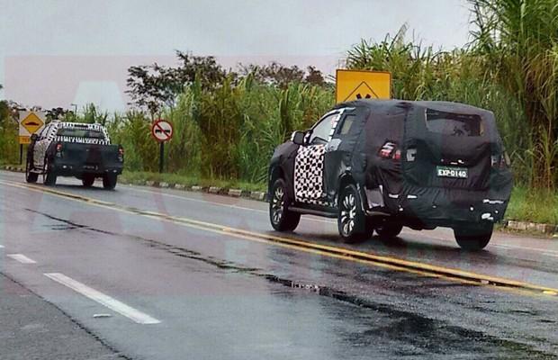 Flagra da nova Chevrolet S10 e Trailblazer (Foto: Oswaldo Palermo / Autoesporte)