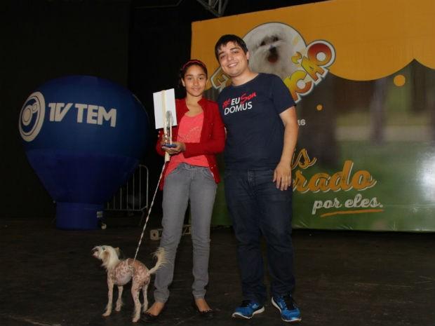 Premiação elegeu também o cão mais exótico (Foto: Marketing/TV TEM)