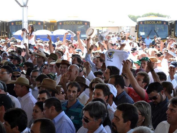 Presidente Dilma Rousseff em Campo Grande (Foto: Fernando da Mata/G1 MS)