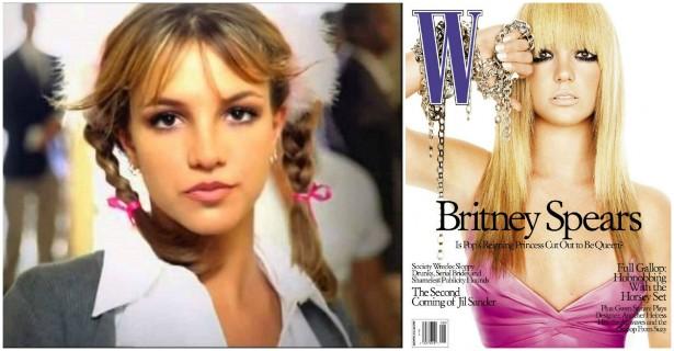 Britney Spears pregava a virgindade antes do casamento. Até que, em julho de 2003, em entrevista que virou capa da revista 'W', a popstar revelou que já havia feito sexo. Para quem não se lembra, a cantora se casou apenas no ano seguinte. (Foto: Reprodução)
