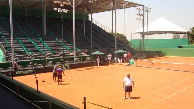 Copa Davis Rio Preto - Harmonia Tênis Clube (Foto: Marcus Vinícius Souza/ TV Tem)
