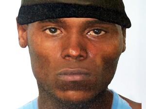 Polícia Civil divulgou retrato falado de suspeiro de matar estudante em Santos, SP (Foto: Rodrigo Martins/G1)