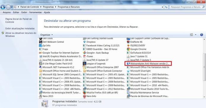 Procure por Malwarebytes Anti-Malware (Foto: Reprodução/Juliana Pixinine)