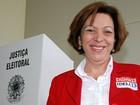 Angela Amin e Ideli Salvatti votam em Florianópolis