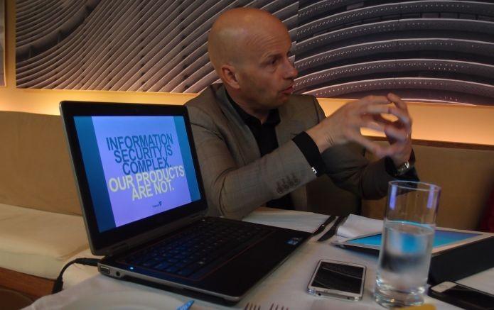 A F-Secure de Christian Fredrikson está fazendo software para a era pós-Snowden (Foto: Pedro Zambarda/TechTudo)