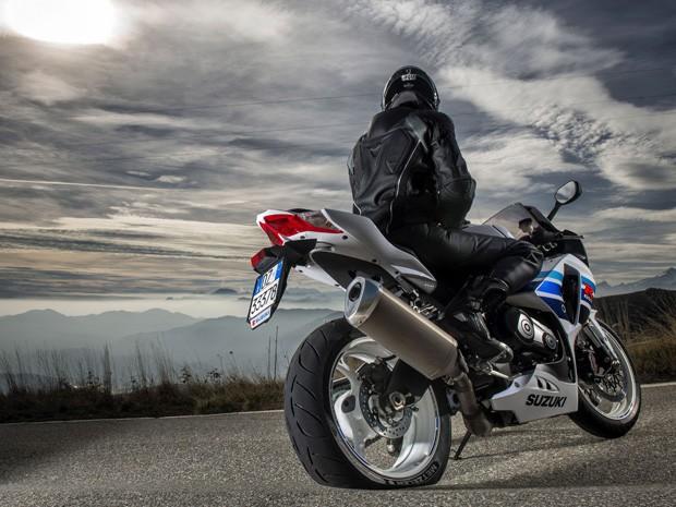 Pneu furado em uma Ducati (Foto: Divulgação)