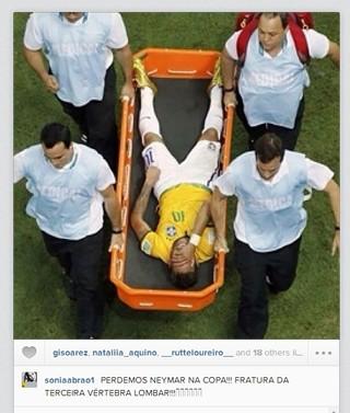 Sonia Abrão lamenta a saída de Neymar na Copa (Foto: Reprodução/ Instagram)