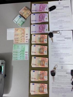 A Polícia Civil apreendeu 35 mil euros com suspeito do crime em Natal (Foto: Kleber Teixeira/Inter Tv Cabugi)