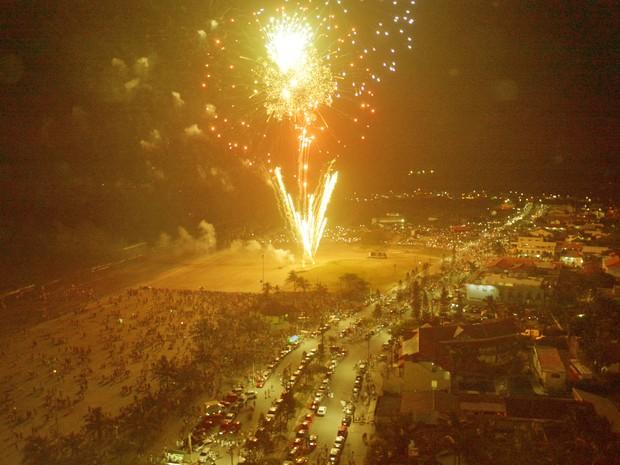 Virada em Peruíbe reuniu milhares de turistas e moradores (Foto: Lelo Bianco / Arquivo Pessoal)