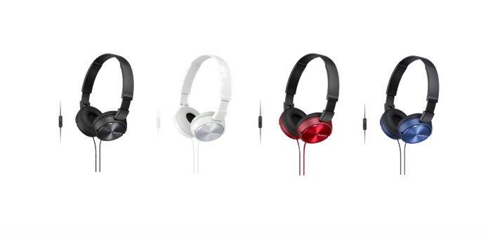 Novos headphones da Sony estão disponíveis em várias cores (foto: Divulgação/Sony)