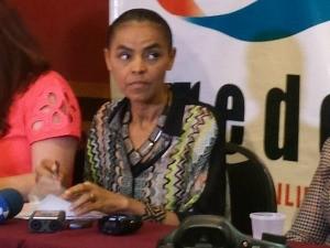 Marina Silva em visita a Fortaleza (Foto: Diana Vasconcelos/G1)