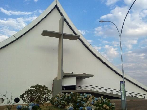 Catedral Militar Rainha da Paz, em Brasília (Foto: Isabella Formiga/G1)
