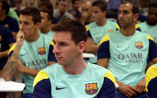 Messi coletiva Barcelona saída de Tito Vilanova (Foto: AP)