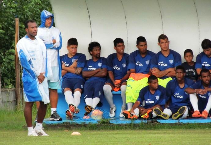 Emerson Nunes jogo-treino Avaí (Foto: Marcelo Silva)