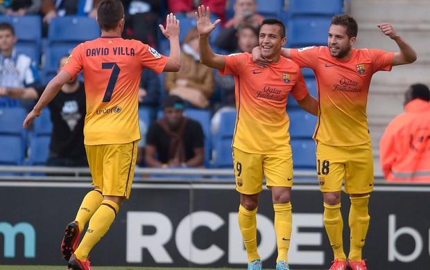 Sanchez gol Barcelona (Foto: AP)