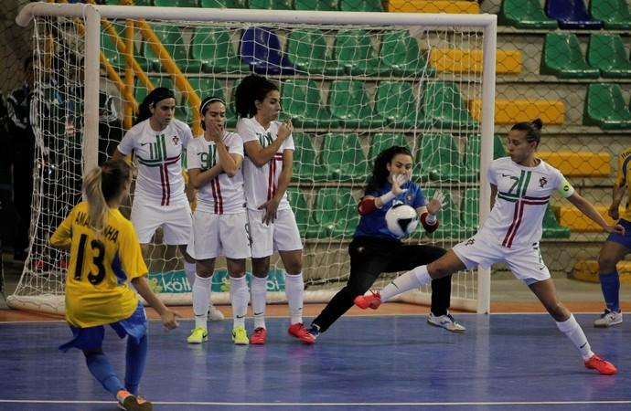 Brasil x Portugal futsal Torneio Feminino (Foto: Divulgação)