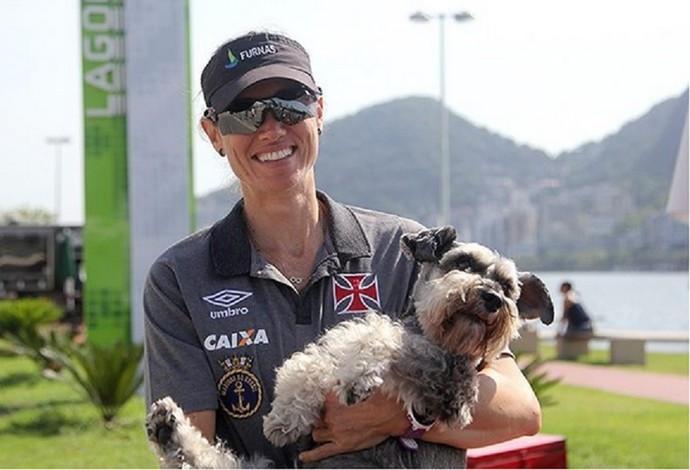 Fabiana se despediu do remo neste domingo (Foto: Paulo Fernandes/Vasco.com.br)