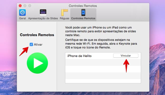 Ative o recurso e vincule o seu iPhone (Foto: Reprodução/Helito Bijora)