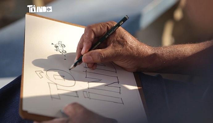 Desenhista é entrevistado no Tô Indo deste sábado (17) (Foto: Divulgação | Tô Indo)