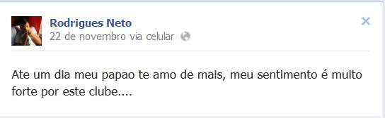 Volante demonstra carinho pelo clube paraense (Foto: Reprodução/ Facebook)