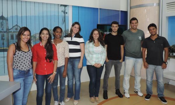 Os selecionados para o Projeto Trainee 2015 da TV Rio Sul (Foto: Milena Bernardo)