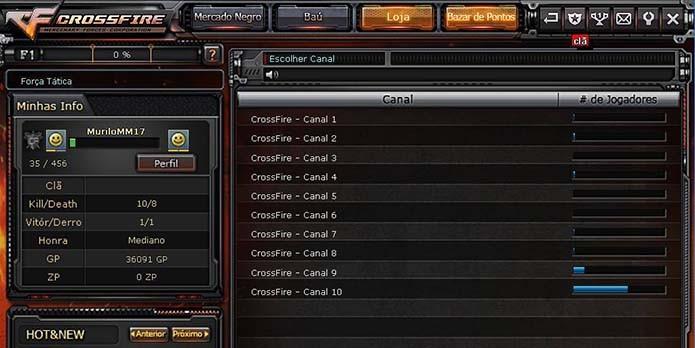 Clique em Clã no menu do Crossfire (Foto  Reprodução Murilo Molina) 7e61333800a84