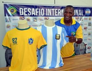 Brasil x Argentina - Adílio, ex-jogador do Flamengo (Foto: Jocaff Souza/GloboEsporte.com)