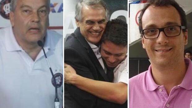 João Alfredo (Atlético-PR, Vilson Ribeiro (Coritiba) e Alex Brasil (Paraná) (Foto: Divulgação)