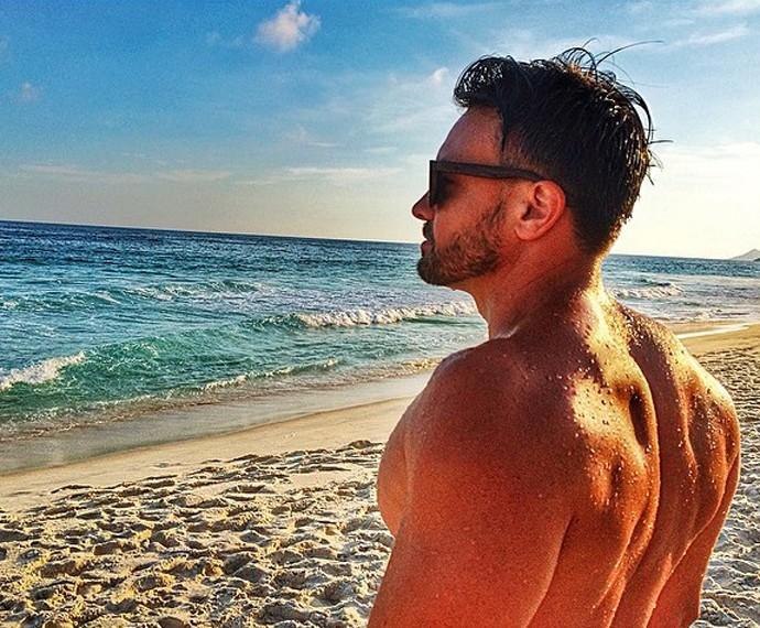 Aos 37 anos, Márcio Kieling ostenta um corpão de dar inveja  (Foto: Arquivo Pessoal)