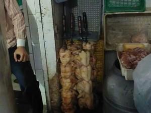 Carnes tinham armazenamento impróprio (Foto: Divulgalçao)