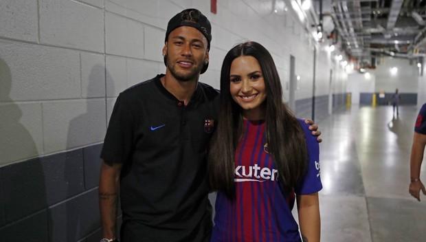 Neymar e Demi Lovato se encontraram no ltimo sbado, em Nova Jersey, nos Estados Unidos (Foto: Reproduo/Instagram)
