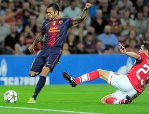 Daniel Alves, Barcelona (Foto: Agência AFP)