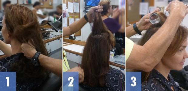Passo a passo fotos de 1 a 3 (Foto: Em Família / TV Globo)