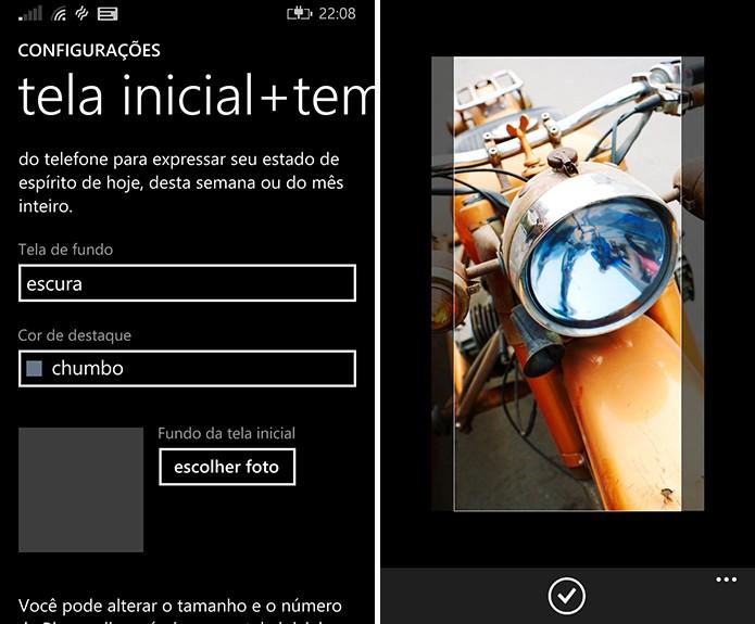Windows Phone pode ser personalizado com imagens nas live tiles da tela inicial (Foto: Reprodução/Elson de Souza)