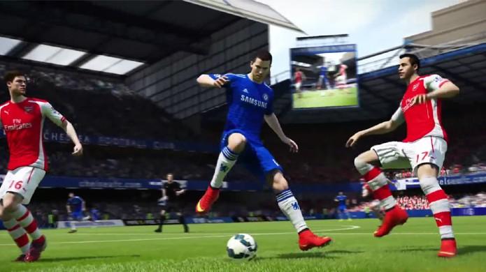 Eden Hazard demonstra as novas técnicas disponíveis em Fifa 15 (Foto: Reprodução/YouTube)