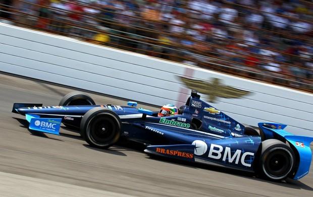 Indy Rubens Barrichello no treino em Detroit (Foto: Carsten Horst / Mpteam)