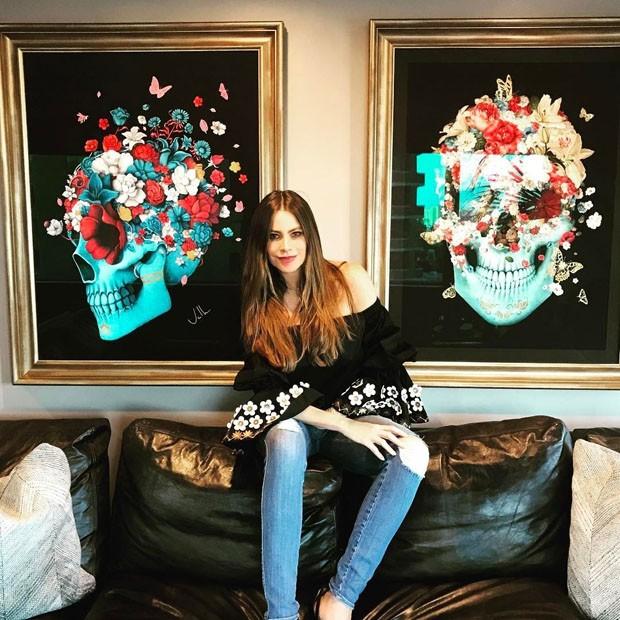 Sofia Vergara escolhe obra de arte de artista brasileiro para sua casa (Foto: Reprodução/Instagram)