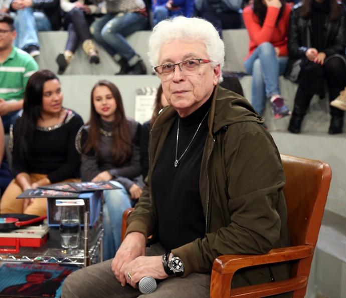Aguinaldo Silva participa do programa Altas Horas (Foto: Carol Caminha/Gshow)
