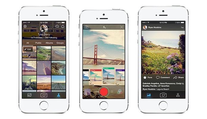 Flickr recebeu novos recursos e está mais parecido com o Instagram (Foto: Divulgação/AppStore)