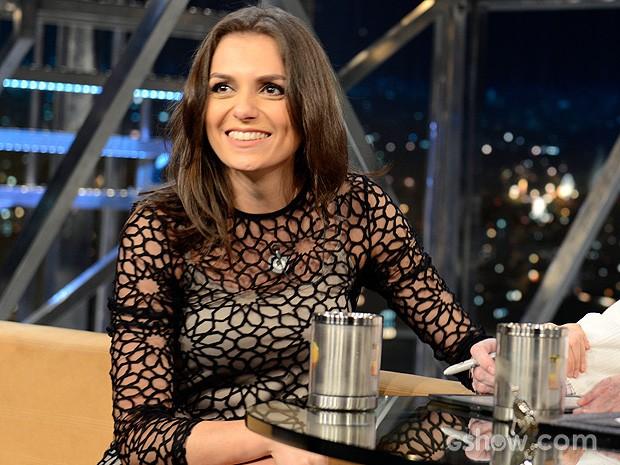 Monica Iozzi participa do Programa do Jô desta quinta-feira (Foto: TV Globo/Programa do Jô)