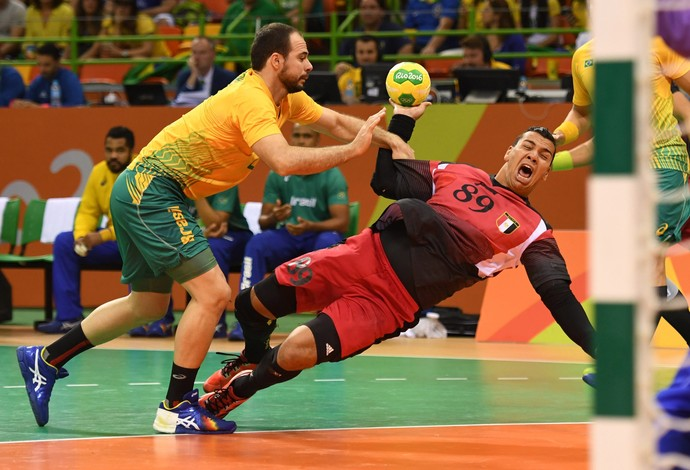 Brasil X Egito Handebol (Foto: Agência EFE)