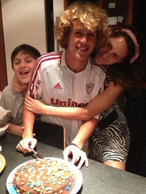 As grandes paixões do jornalista: José (à esq.), Theo e Ana (Foto: Arquivo Pessoal)