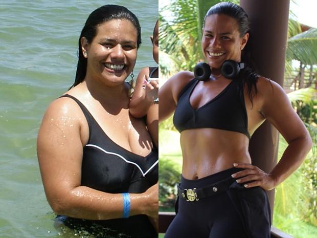 Paraibana passou dos 110kg para os 60kg em cerca de dois anos (Foto: Andreia Teixeira/Arquivo Pessoal)