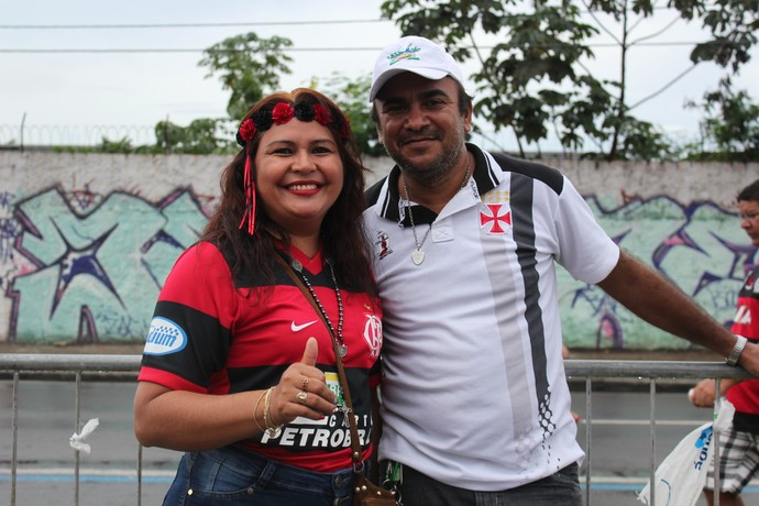 Torcida Vasco x Flamengo AM  (Foto: Matheus Castro)